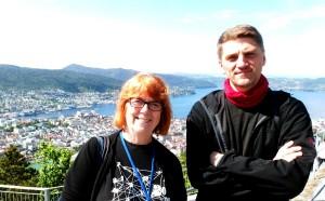 NUTSHELL-BEGEISTREDE: Britiske Ros Rigby og bosniske Edin Zubčević (foto: Terje Mosnes)