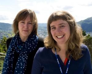 NUTSHELL-ANSVARLIGE: Nina Torske (tv) og Brit Aksnes (foto: Terje Mosnes)