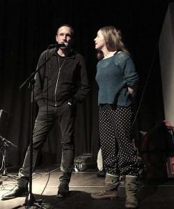 Musikere og arrangører Paal Nilssen-Love og Guro Moe (Jon-Rune Strøm ikke tilstede på bildet).