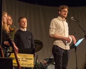 NY PRISVINNER: Simen Kiil Halvorsen fikk årets Mølsterpris. Foto: Terje Mosnes