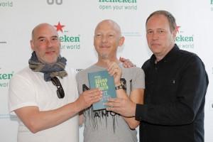 Luca Vitali (i midten) sammen med Punktfestivalens Jan Bang (til venstre) og Erik Honorè. (foto: Lolo Vasco)