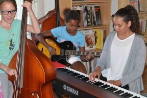Fra øving på Barnas Jazzhus. (foto: Improbasen)
