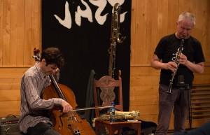 Frode Gjerstad og Ferd Lonberg-Holm (foto: Vossa Jazz/Runhild Heggem)