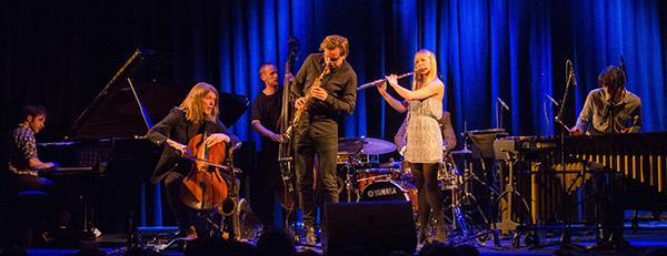 I full MaiJazz-utfoldelse . Marius Neset Quintet med gjester. (Foto: Terje Mosnes)