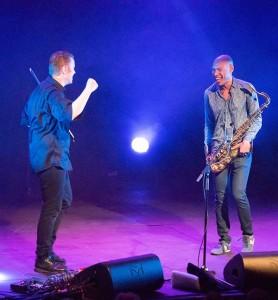 Fant tonen - Ola Kvernberg og Joshua Redman. (foto: Terje Mosnes)