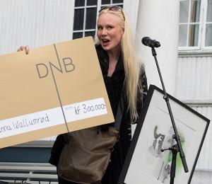 Prisvinner Susanna Wallumrød (foto: Terje Mosnes)