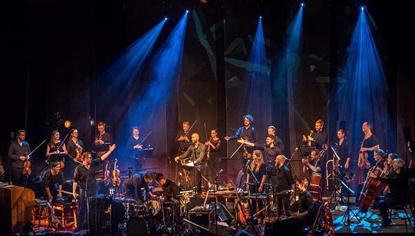 Gnistrende åpningskonsert: Ola Kvernbergs Mechanical Fair med TrondheimSolistene. (foto: Terje Mosnes)