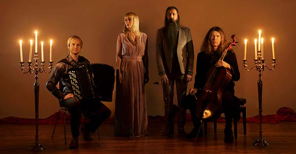 Rumi-kvartetten, fra venstre Frode Haltli, Tora Augestad, Trygve Seim og Svante Henryson. Foto: Knut Bry/ECM
