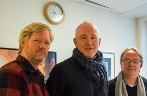 SPILLEKLAR: Petter Wettre Quartet, her ved tre av musikerne, er klar for konserter i slutten av denne måneden. Samtidig kommer albumet «Pig Virus 2.0» i et begrenset vinylopplag til høy pris. F.v. Per Oddvar Johansen, Petter Wettre, Terje Gewelt. (foto: Terje Mosnes)