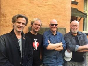 Extended Noise på Maijazz: Audun Kleive (trommer), Frode Haltli (trekkspill), Frode Alnæs (gitar) og Carl Morten Iversen (bass).  (pressefoto)