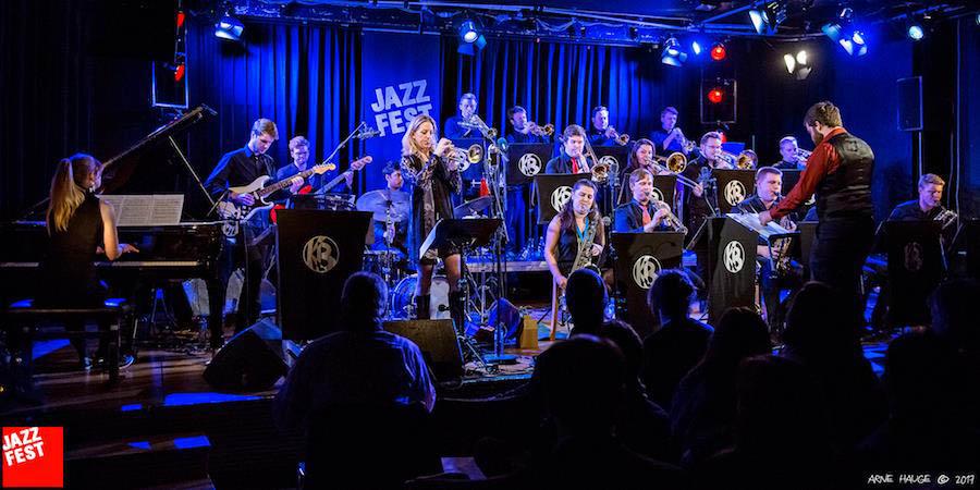 Kjellerbandet med Ingrid Jensen på Jazzfest i Trondheim i mai 2017 (foto: Arne Hauge/Jazzfest)