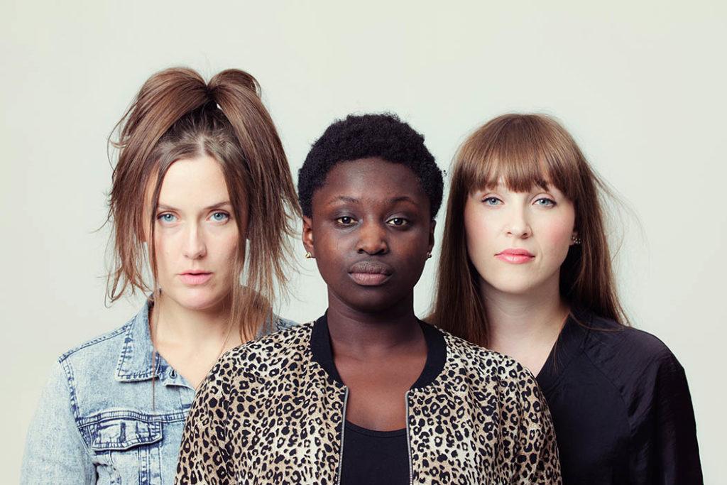 GURLS, fra venstre: Hanna Paulsberg, Rohey Taalah og Ellen A ndrea Wang (foto: Julia Naglestad)