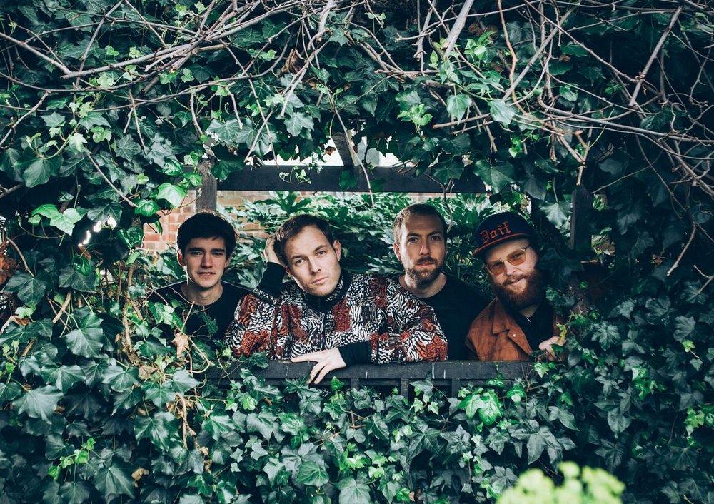 LASSEN spiller på Jazzahead 20. april. Fra venstre: Bram De Looze, Harald Lassen,  Stian Andersen og Tore Flatjord. (foto: James Drew Turner)