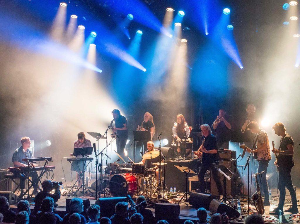 INFERNALSKE: The MaXx og Trondheim Jazzorkester. Foto: Terje Mosnes