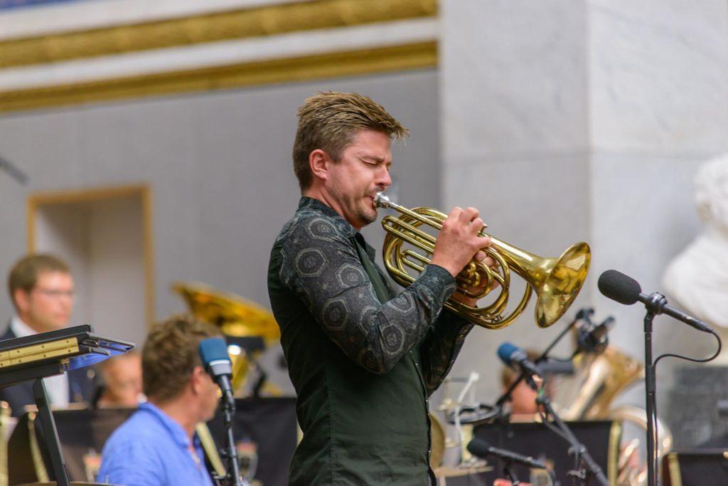 Daniel Herskedal i Universitetets Aula (foto: Egil Austrheim/Oslo Jazzfestival)