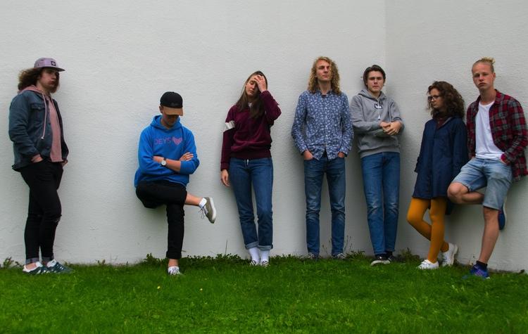 Bakka Street boyz består av syv ungdommer fra Gjøvik, Lillehammer og Eina. Lørdag 8. september spiller de på DølaJazz' jubileumsvorspiel. (foto: DølaJazz)