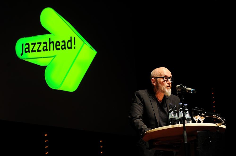 Lars Saabye Christensen var blant åpningstalerne på Jazzahead. Foto: Thomas Kolbein Bjørk Olsen