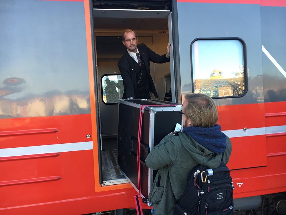 Sørgående tog fra Bodø til Mo i Rana og Trondheim. Foto: Anders Eriksson