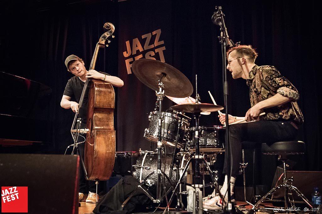 Bjørn Marius Hegge og Simon Albertsen på Dokkkhuset torsdag kveld. Foto: Arne Hauge/Jazzfest