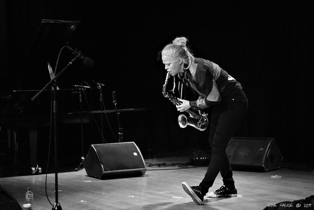 Mette Rasmussen, her fra en konsert på Jazzfest tidligere i uka. Foto: Arne Hauge/Jazzfest