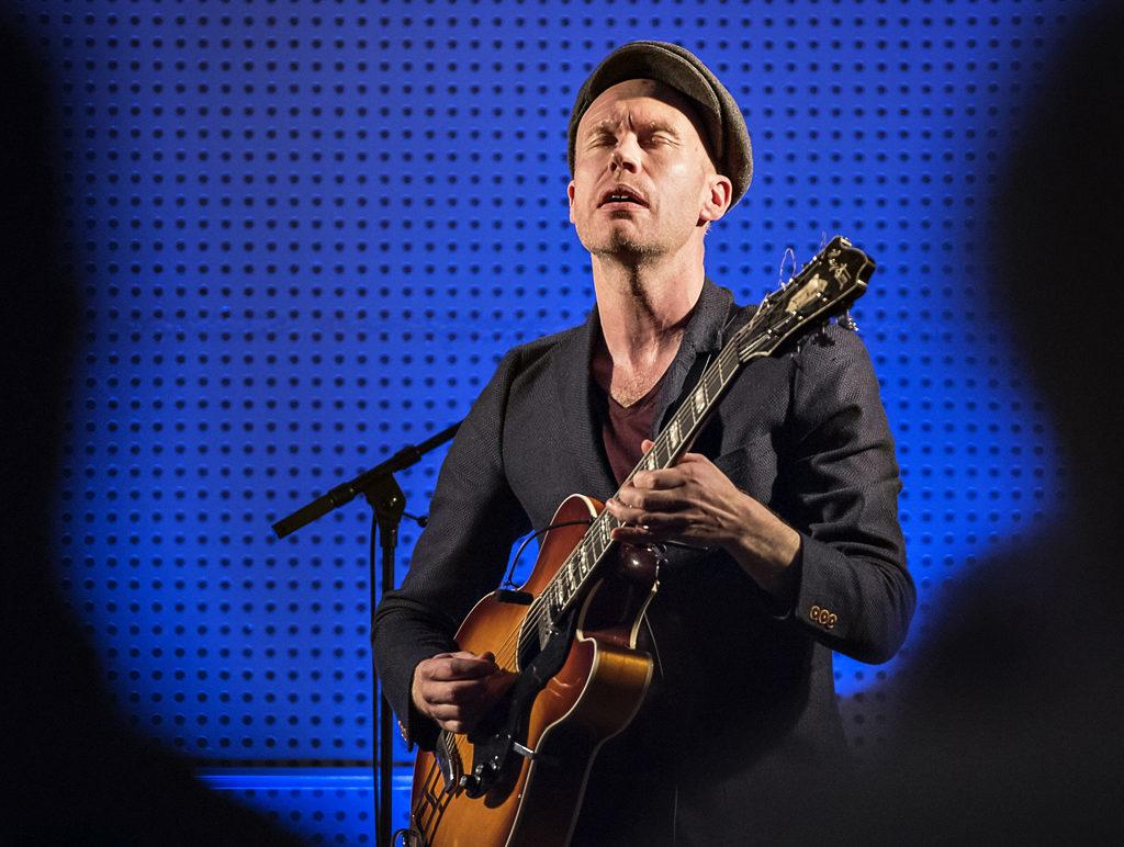Håvard Stubø spilte med sin kvartett på Nidelven. Foto: Arne Hauge/Jazzfest