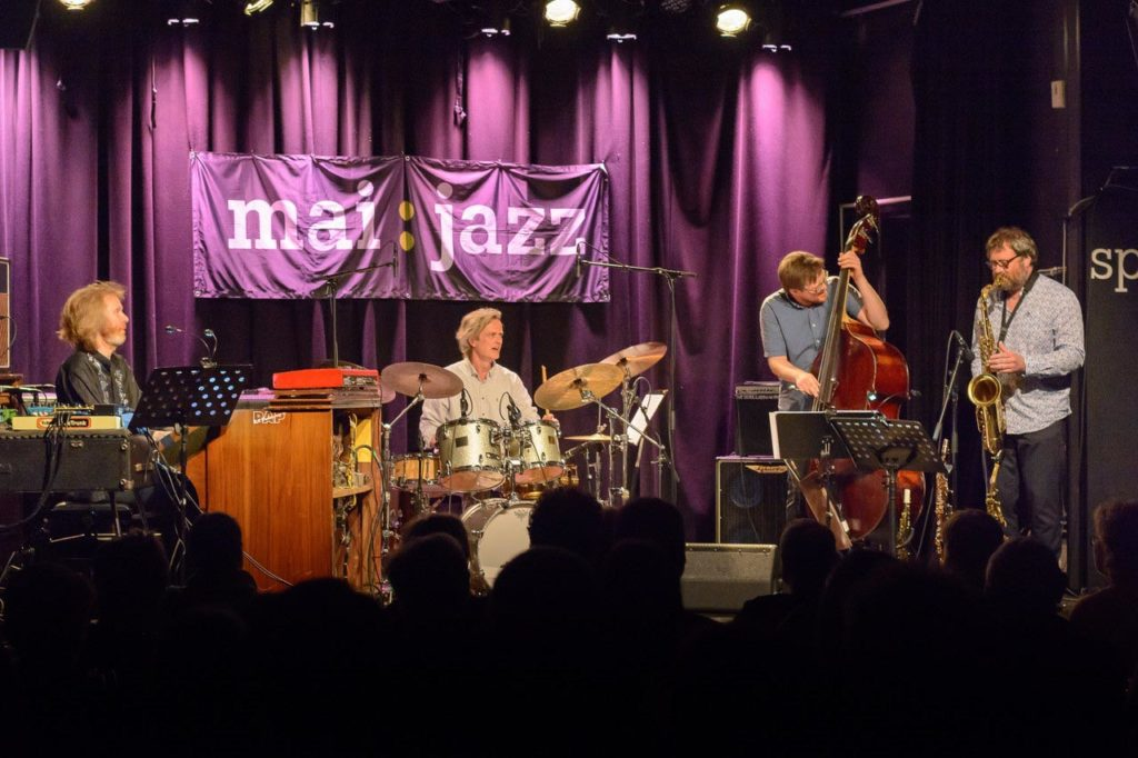 Tor Yttredal Impression Quartet, fra høgre: Ståle Storløkken, Audun Kleive, Ole Morten Vågan og Tor Yttredal. Foto: Øyvind Andersen/Maijazz