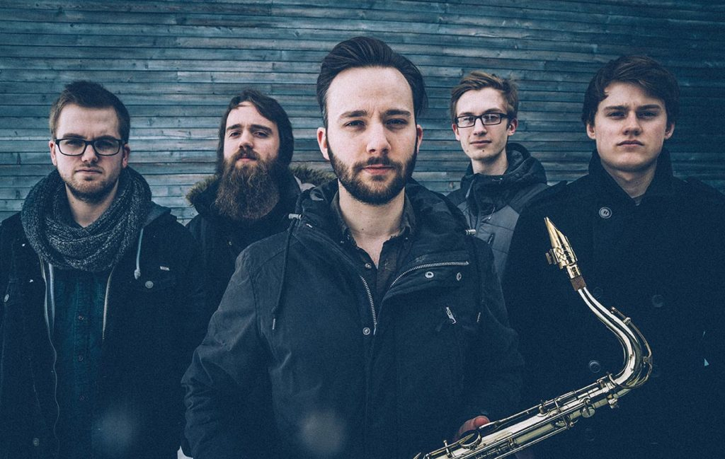 Sondre Kleven Quintet består av musikere tilknyttet Musikkonservatoriet ved Norges Arktiske Universitet (UiT). Lørdag 11. mai spiller de på Bodø Jazz Open. (pressefoto)