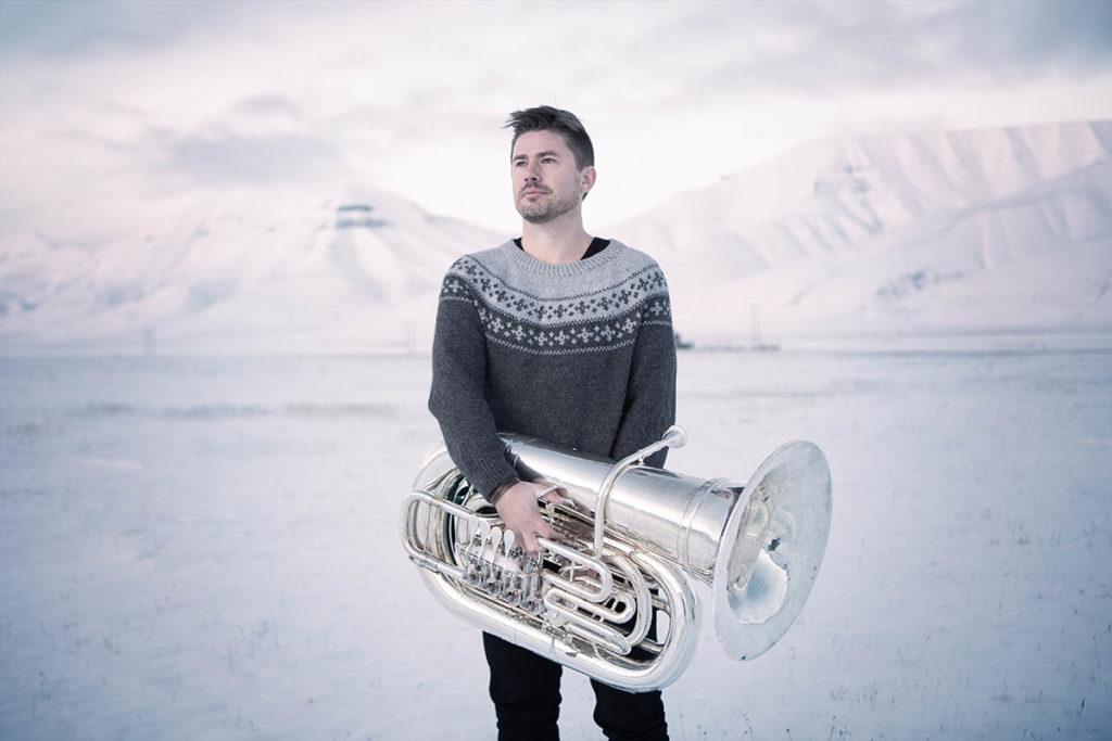 Daniel Herskedal Ensemble har fått kr 200 000 til 18 konserter i inn- og utland, noen av de i samarbeid med klassiske ensembler og den syriske musikeren Maher Mahmoud. Pressefoto: Knut Aaserud