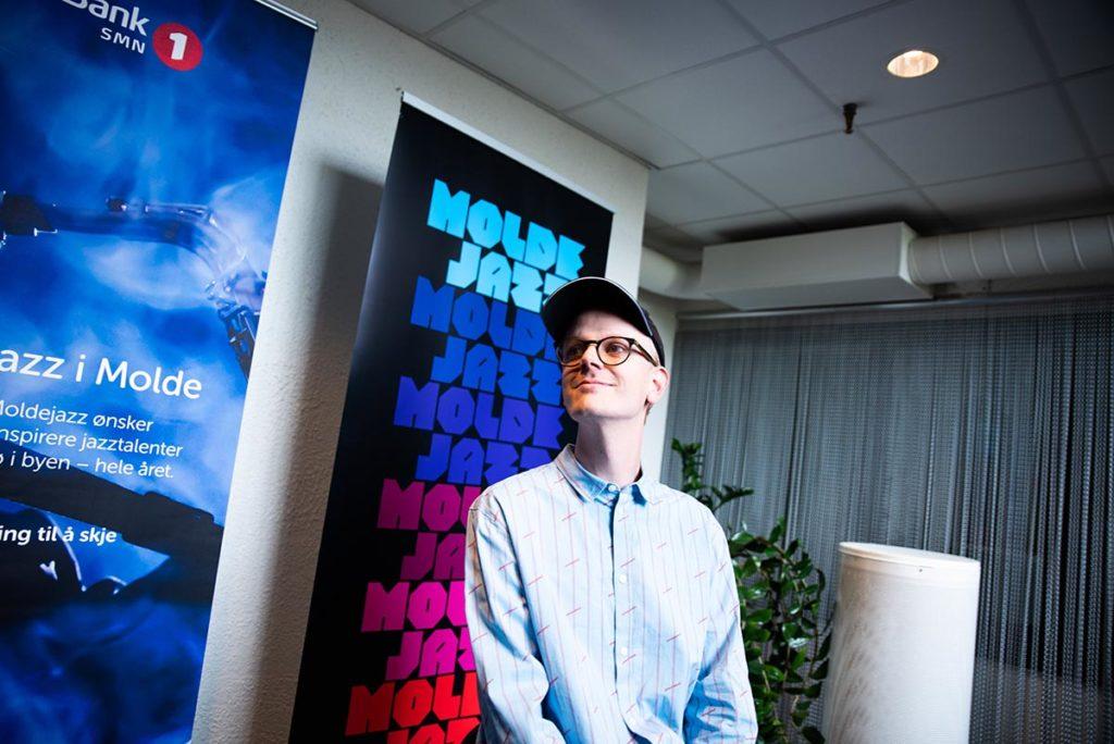 Nyutnevnt jazzstipendiat Johan Lindvall. Foto: Håvard Bævre Ellingsgård/Moldejazz
