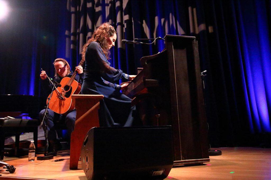 Maja S.K. Ratkje og Syian Westerhus. Foto: Nuno Pissarra/Oslo Jazzfestival