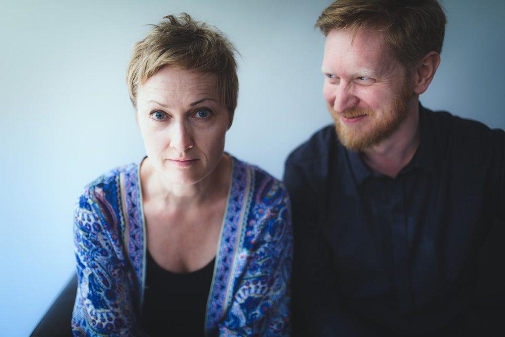 Live Maria Roggen og Helge Lien spiller på Jazz Evidence i Kongsberg 19. februar. Foto: Helge Lien