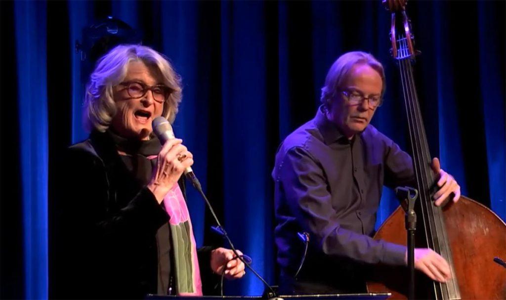 Karin Krog og Terje Gewelt. (skjermdump, Nasjonal jazzkringkasting)