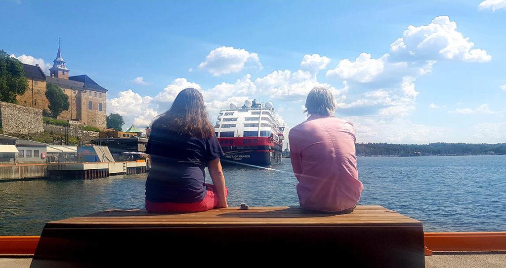 Bysommer: Filip Roshauw og Audun Vinger i Now's The Time kan rolig men ekstatisk skue ut i horisonten og erkjenne at ja, det blir faktisk en musikalsk oslosommer. For eksempel på Salt. Foto: Camilla Slaattun