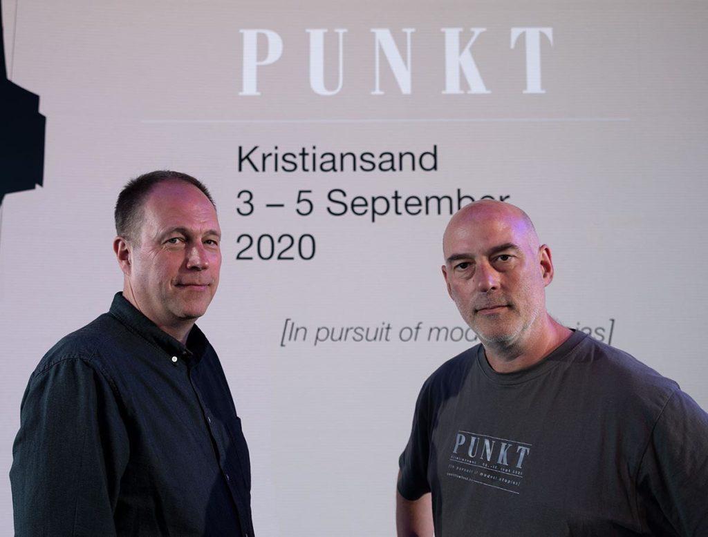 Erik Honoré og Jan Bang står bak Punkt-konseptet. Foto: Alf Solbakken.