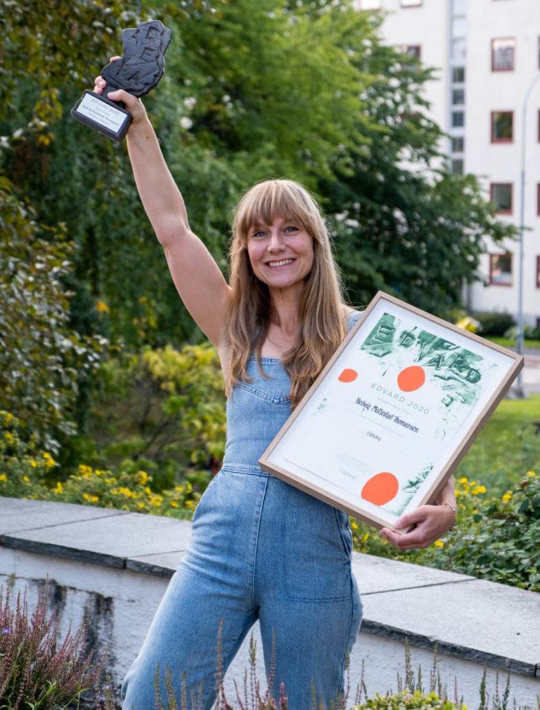 Hedvig Mollestad Thomassen er tildelt EDVARD-prisen for verket «Ekhidna», som ble urfremført på Vossajazz i 2019. Foto: Kristian Dugstad/TONO