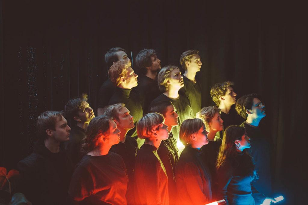 Årets tredjeklassinger på jazzlinja ved NTNU utgjør ensemblet Jazzraptor. Foto: Juliane Schütz