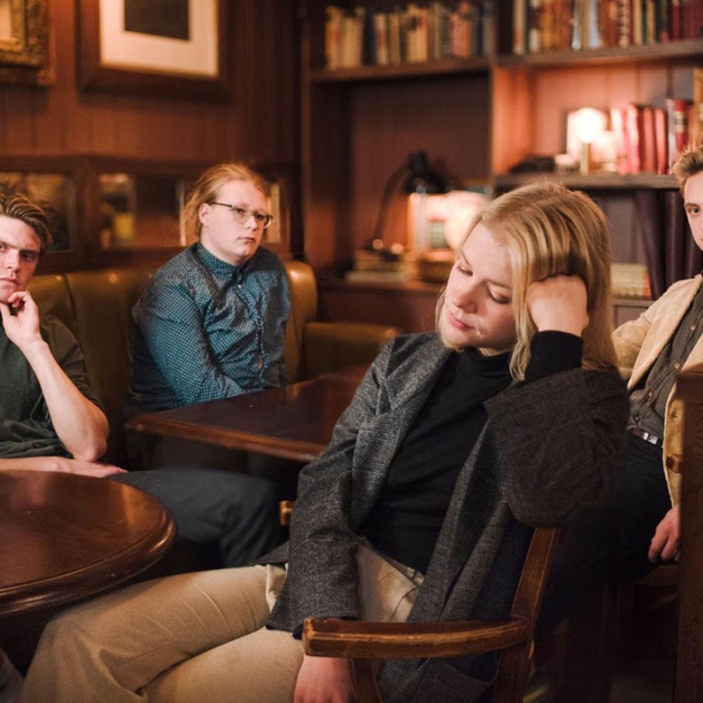Krambua Strings, som spiller på Jazzfest 27. november, er et spennende møte mellom tre improviserende strykere og en stødig bassist, alle studenter ved den velrennomerte jazzlinja i Trondheim. Foto: Bjørn Ante Røe