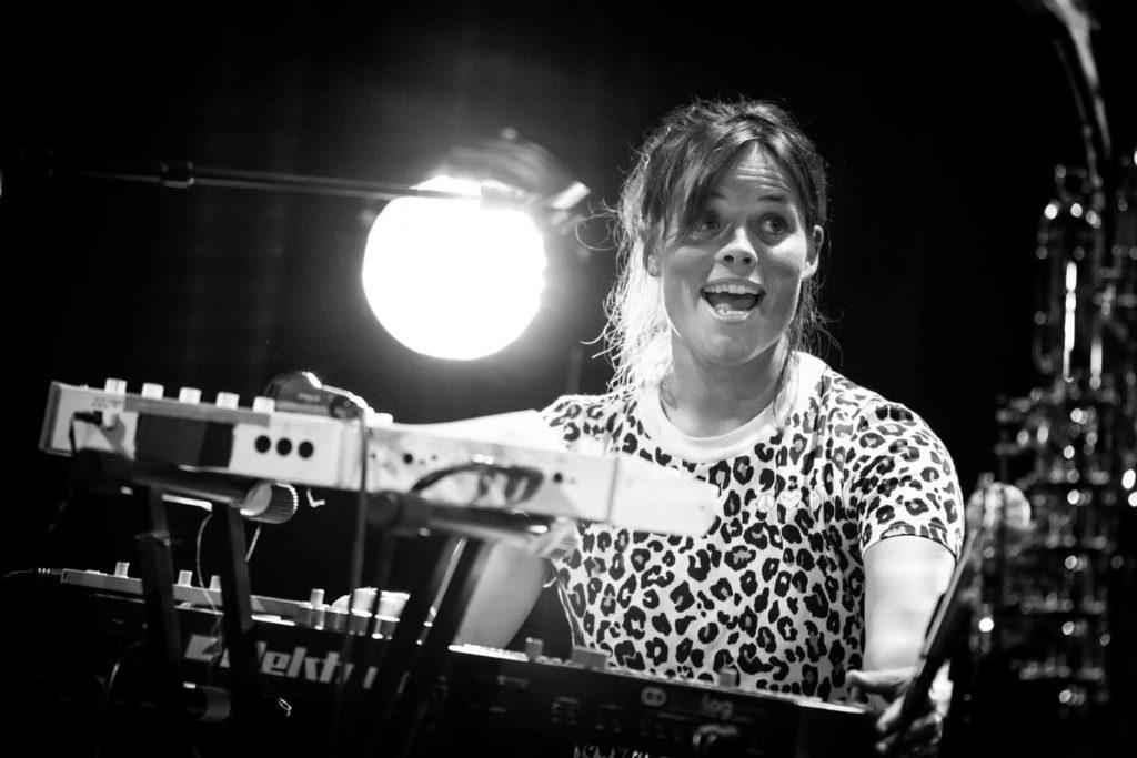 Anja Lauvdal, her fra en konsert med Finity under Oslo Jazzfestival i august i år. Foto: Matija Puzar/Oslo Jazzfestival