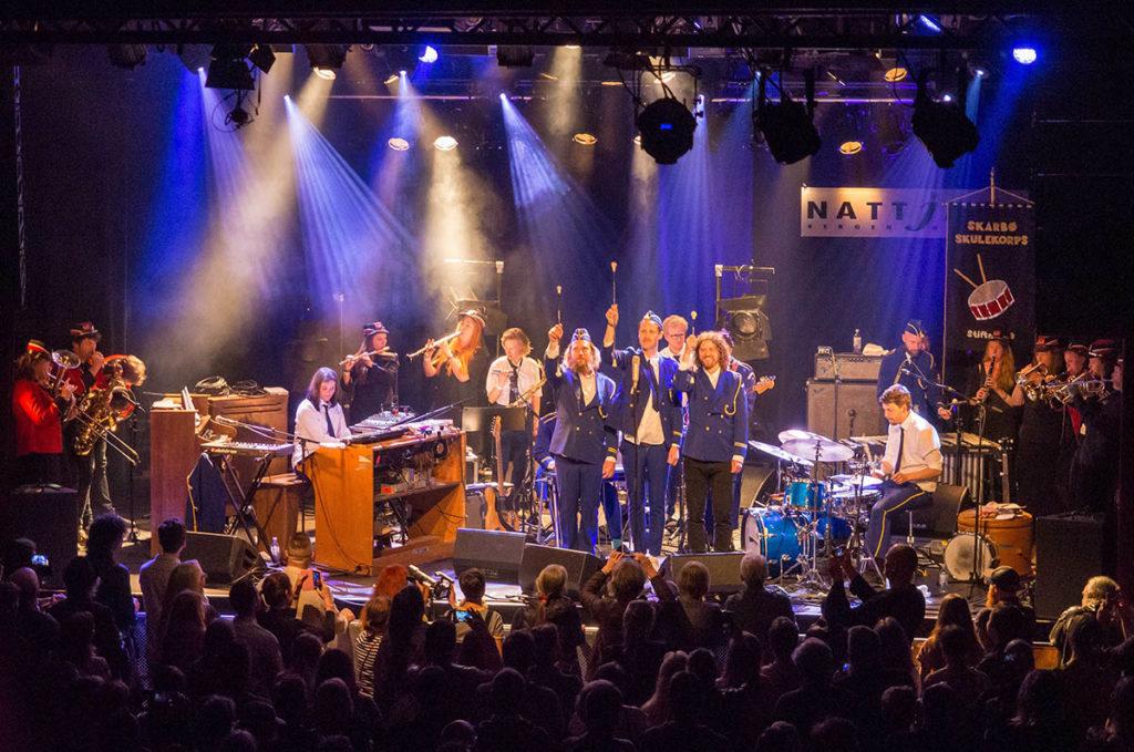 Skarbø Skulekorps fra Nattjazz 2019. Foto: Terje Mosnes