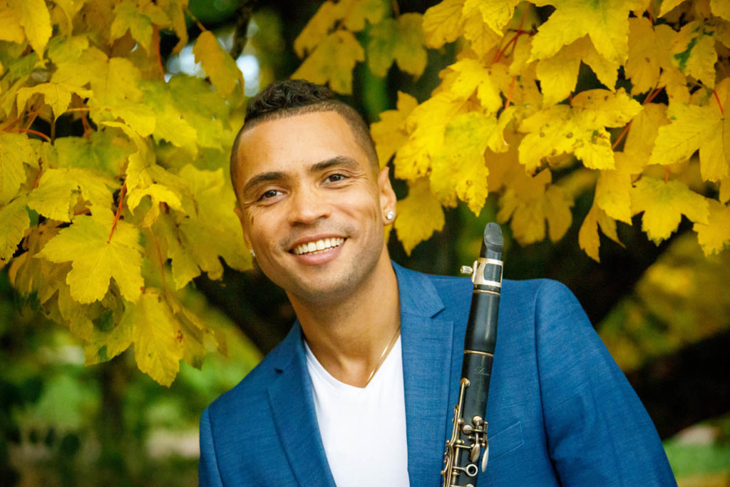 Klarinettist og initiativtager til jazzdag-arrangementet, Felix Peikli. Foto: T Pike