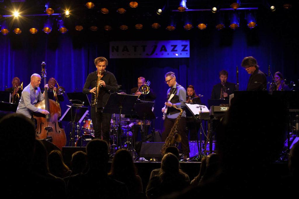 Bergen Big Band og Marius Neset, Nattjazz 2021. Foto: Vestnorsk jazzsenter