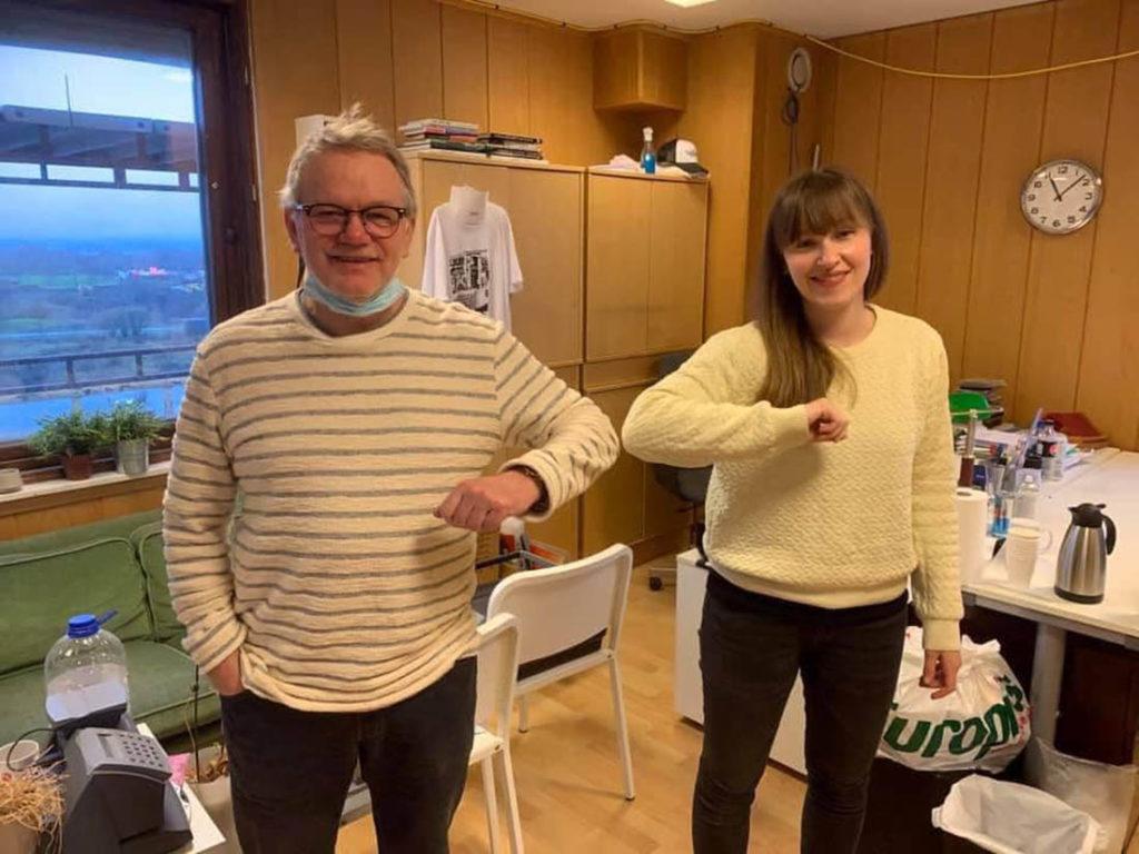 Tor Hammerø og Ellen Andrea Wang. Foto: Ordentlig Radio