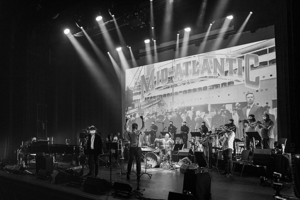 NRK TV sender konsertopptak fra  Oslo Jazzensemble & Håkon Kornstads åpningsforestilling for Kongsberg jazzfestival 2021 i programserien Festivalsommer. Foto: Nina Holtan