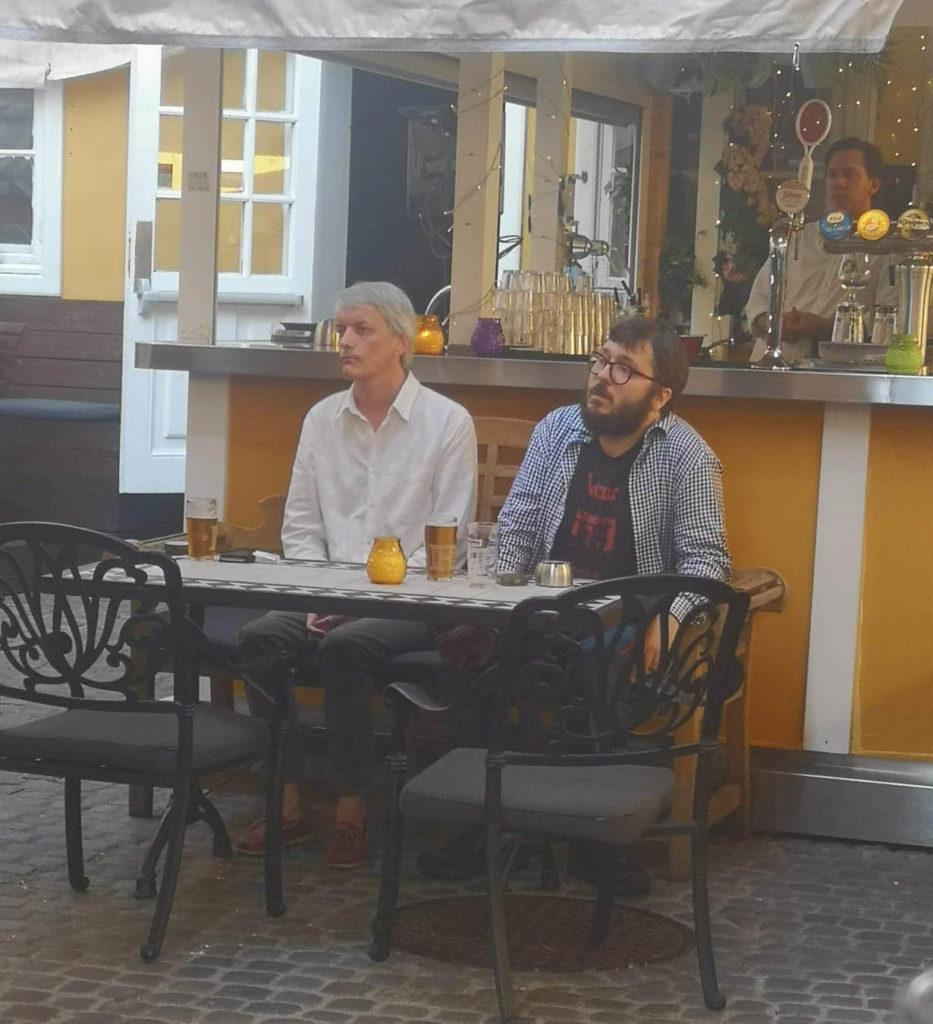Audun Vinger og Filip Roshauw, her fra fjorårets jazzkro.