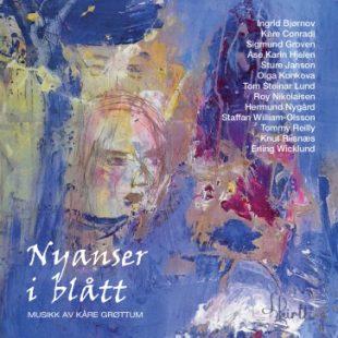 «Nyanser i blått. Musikk av Kåre Grøttum» cover