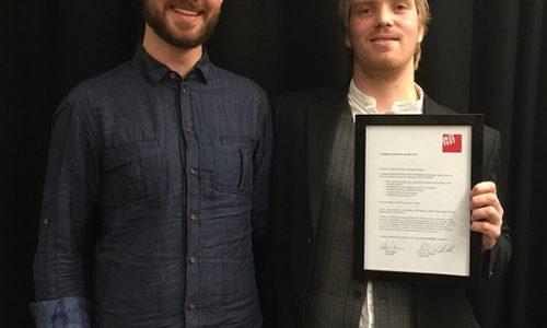 Talentpris til Oscar Grönberg