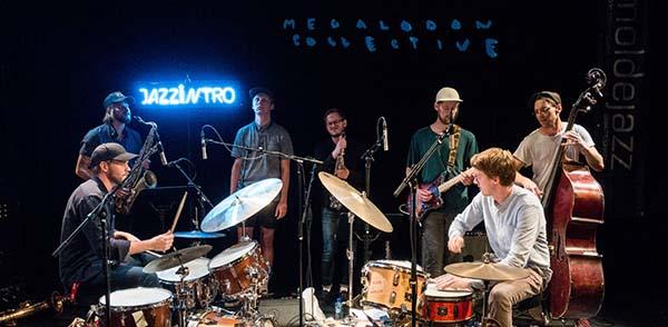 Vinner av Jazzintro 2016, Megalodon Collective. (foto: Remi Aure Reksten/Moldejazz)