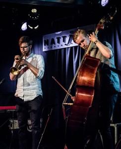 Past Present: Simen Kiil Halvorsen (trompet) og Alexander Hoholm (kontrabass). Foto: Øyvind Toft/Nattjazz